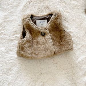 Old Navy Baby faux fur vest